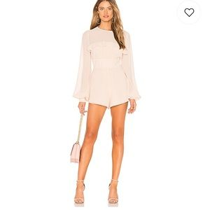 Cream long sleeve romper